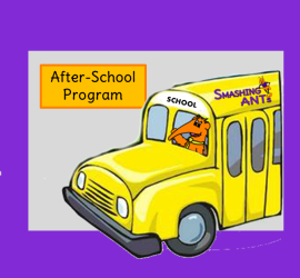 school bus with asp and andy and mini logo